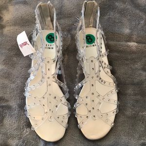 Stuart Weitzman Rhinestone Jelly Sandals